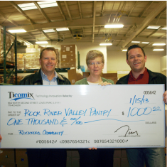 Donating to the Rock River Valley Pantry
