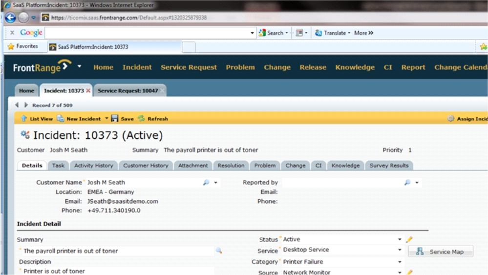 FrontRange ITSM SaaS Cloud Help Desk screenshot 2