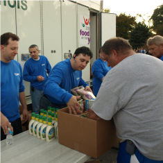 Handing out Food With the Northern Illinois Food Bank