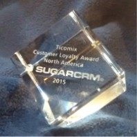 Ticomix Rewarded SugarCRM's 2015 Customer Loyalty Award